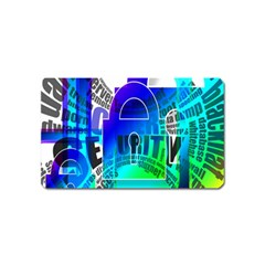 Security Castle Sure Padlock Magnet (Name Card)