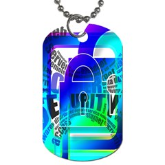 Security Castle Sure Padlock Dog Tag (Two Sides)