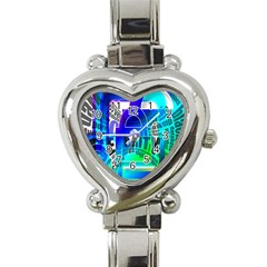 Security Castle Sure Padlock Heart Italian Charm Watch