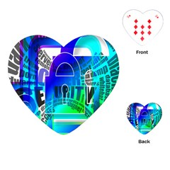 Security Castle Sure Padlock Playing Cards (Heart)