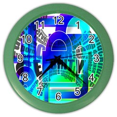 Security Castle Sure Padlock Color Wall Clocks