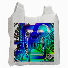 Security Castle Sure Padlock Recycle Bag (Two Side)