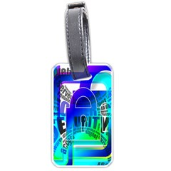 Security Castle Sure Padlock Luggage Tags (One Side)
