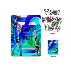 Security Castle Sure Padlock Playing Cards 54 (Mini)