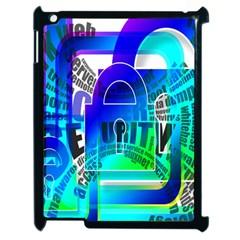 Security Castle Sure Padlock Apple iPad 2 Case (Black)