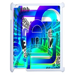 Security Castle Sure Padlock Apple iPad 2 Case (White)