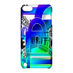 Security Castle Sure Padlock Apple Ipod Touch 5 Hardshell Case With Stand