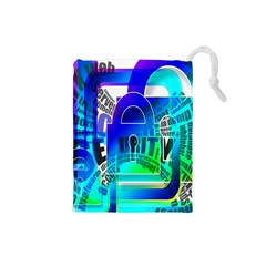 Security Castle Sure Padlock Drawstring Pouches (Small)