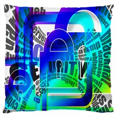 Security Castle Sure Padlock Large Flano Cushion Case (two Sides)