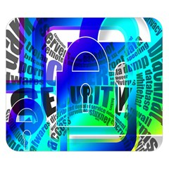 Security Castle Sure Padlock Double Sided Flano Blanket (Small)
