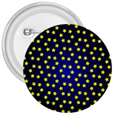 Star Christmas Yellow 3  Buttons