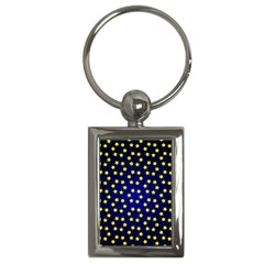 Star Christmas Yellow Key Chains (Rectangle)