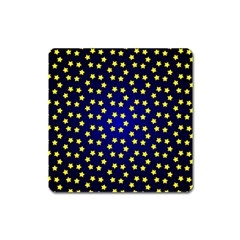 Star Christmas Yellow Square Magnet