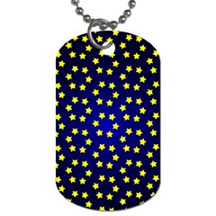 Star Christmas Yellow Dog Tag (One Side)