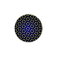 Star Christmas Yellow Golf Ball Marker