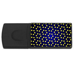 Star Christmas Yellow USB Flash Drive Rectangular (1 GB)