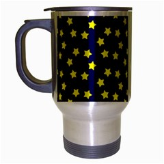 Star Christmas Yellow Travel Mug (Silver Gray)
