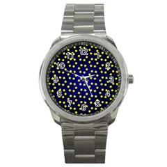 Star Christmas Yellow Sport Metal Watch