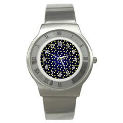 Star Christmas Yellow Stainless Steel Watch