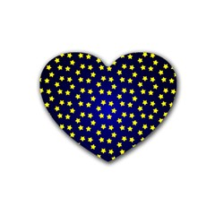 Star Christmas Yellow Heart Coaster (4 pack)