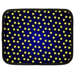 Star Christmas Yellow Netbook Case (Large)