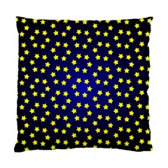 Star Christmas Yellow Standard Cushion Case (one Side)