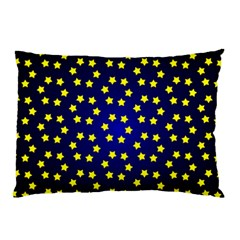Star Christmas Yellow Pillow Case