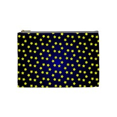 Star Christmas Yellow Cosmetic Bag (Medium)