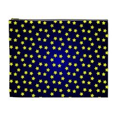 Star Christmas Yellow Cosmetic Bag (XL)