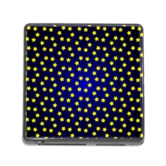 Star Christmas Yellow Memory Card Reader (Square)