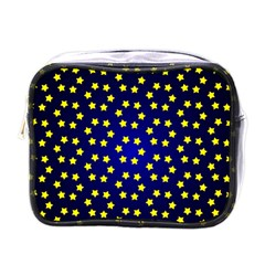Star Christmas Yellow Mini Toiletries Bags