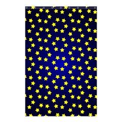 Star Christmas Yellow Shower Curtain 48  x 72  (Small)