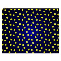 Star Christmas Yellow Cosmetic Bag (XXXL)