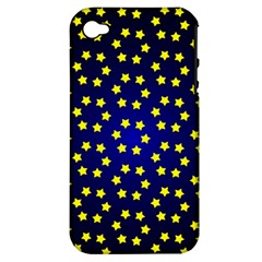 Star Christmas Yellow Apple iPhone 4/4S Hardshell Case (PC+Silicone)