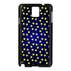 Star Christmas Yellow Samsung Galaxy Note 3 N9005 Case (Black)