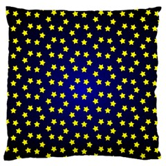 Star Christmas Yellow Standard Flano Cushion Case (two Sides)