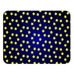 Star Christmas Yellow Double Sided Flano Blanket (Large)