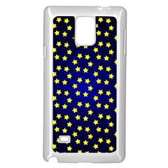Star Christmas Yellow Samsung Galaxy Note 4 Case (White)