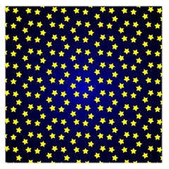 Star Christmas Yellow Large Satin Scarf (Square)