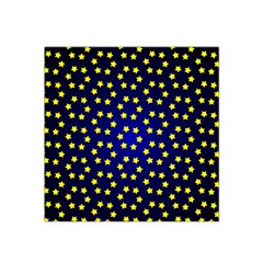 Star Christmas Yellow Satin Bandana Scarf