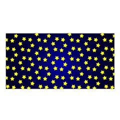 Star Christmas Yellow Satin Shawl