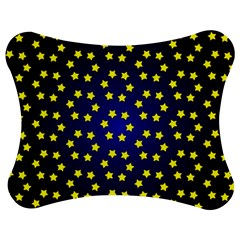 Star Christmas Yellow Jigsaw Puzzle Photo Stand (Bow)