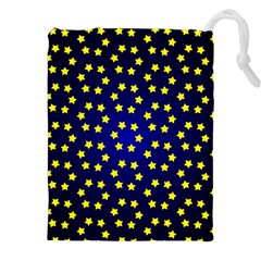 Star Christmas Yellow Drawstring Pouches (xxl)