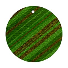 Stripes Course Texture Background Ornament (Round)
