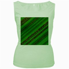 Stripes Course Texture Background Women s Green Tank Top