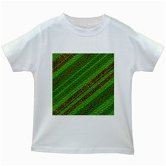 Stripes Course Texture Background Kids White T-Shirts