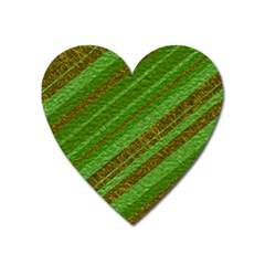 Stripes Course Texture Background Heart Magnet