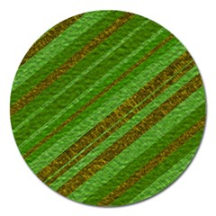 Stripes Course Texture Background Magnet 5  (Round)