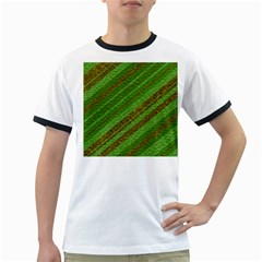 Stripes Course Texture Background Ringer T-Shirts