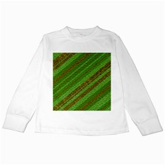 Stripes Course Texture Background Kids Long Sleeve T Shirts